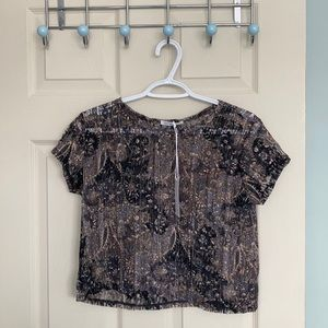 NWT Cropped Antistar Vintage Look Lace Top